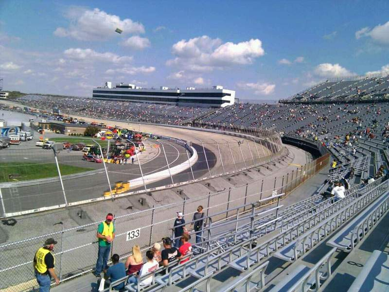 Seating view for Dover International Speedway Section 134 Row 14 Seat 9