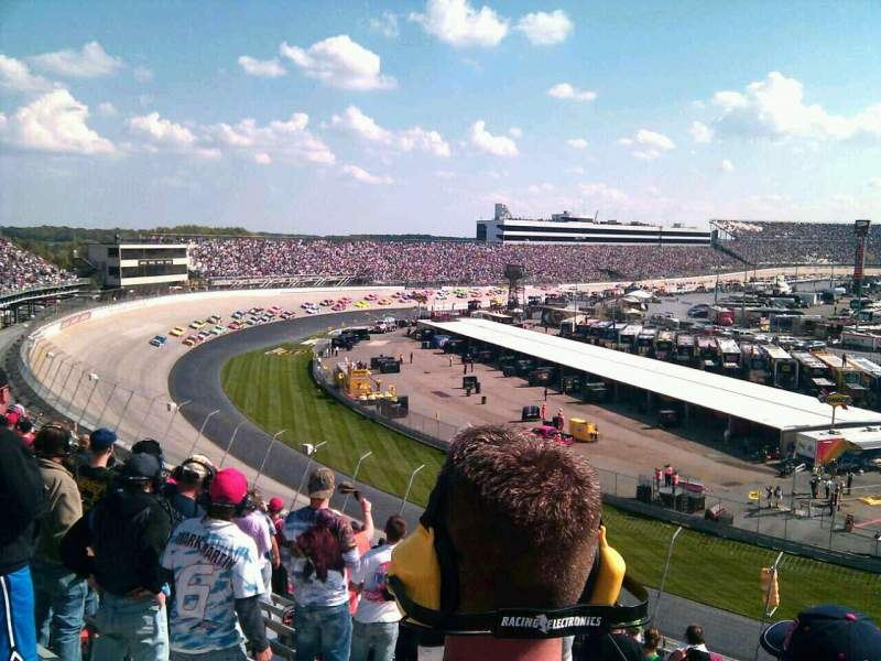 Seating view for Dover International Speedway Section 210 Row 19 Seat 14