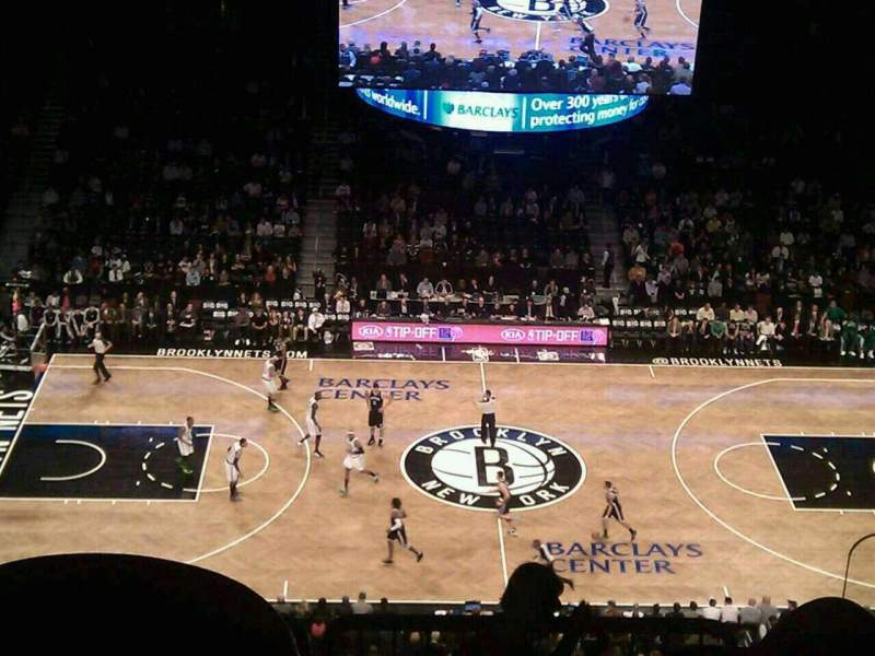 Seating view for Barclays Center Section 225 Row 7 Seat 3