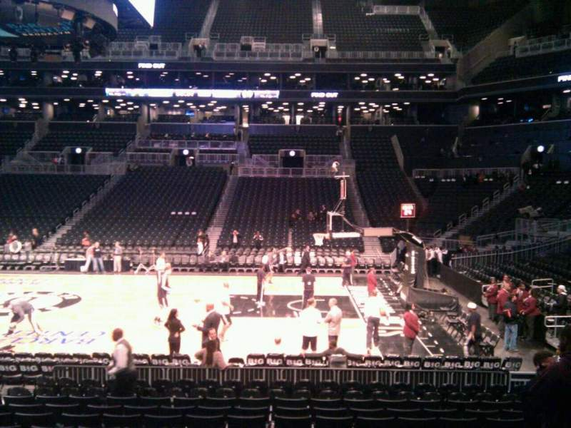 Seating view for Barclays Center Section 7 Row 12 Seat 9