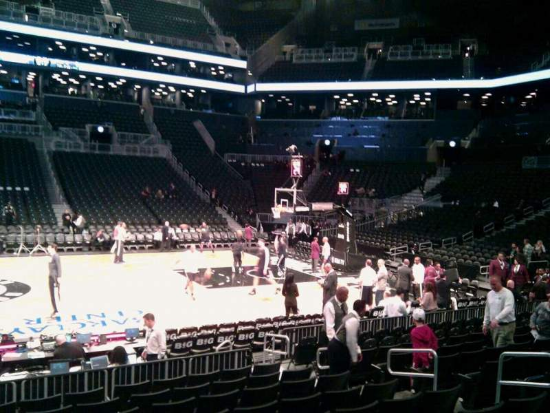 Seating view for Barclays Center Section 8 Row 10 Seat 9