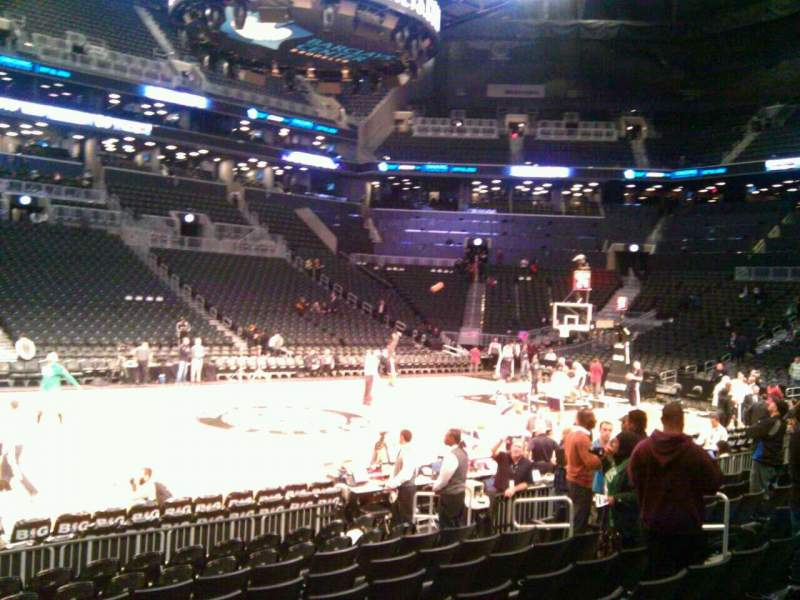 Seating view for Barclays Center Section 9 Row 6 Seat 4