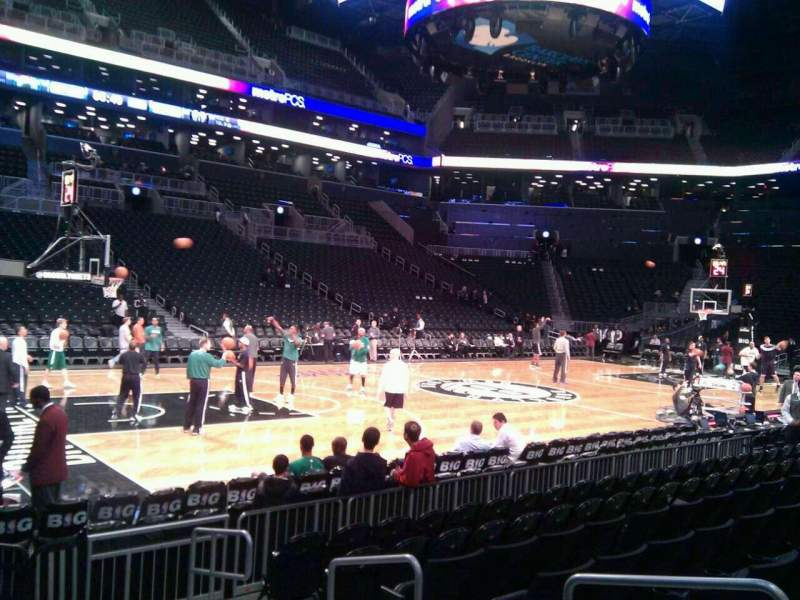 Seating view for Barclays Center Section 10 Row 5 Seat 4