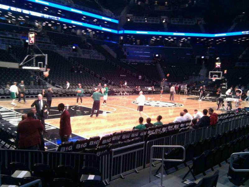 Seating view for Barclays Center Section 12 Row 5 Seat 3