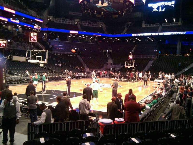 Seating view for Barclays Center Section 13 Row 5 Seat 8