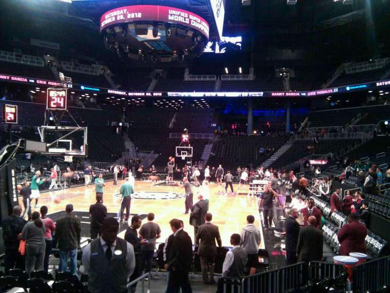 Seating view for Barclays Center Section 15 Row 11 Seat 12