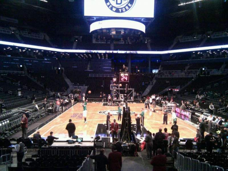 Seating view for Barclays Center Section 16 Row 11 Seat 4