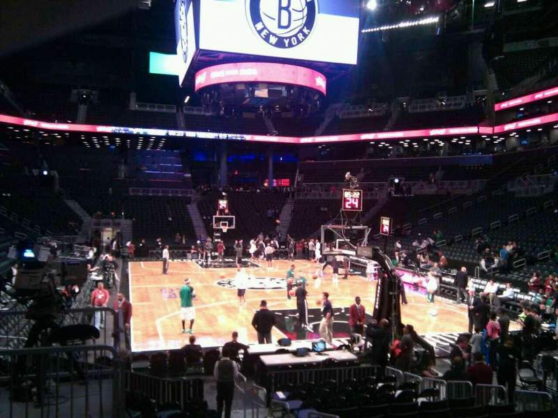 Seating view for Barclays Center Section 17 Row 11 Seat 5