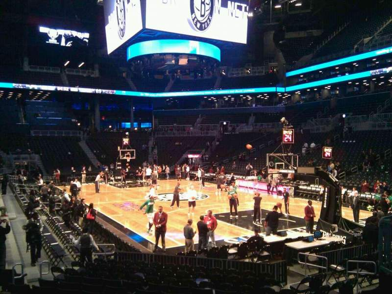 Seating view for Barclays Center Section 20 Row 11 Seat 2