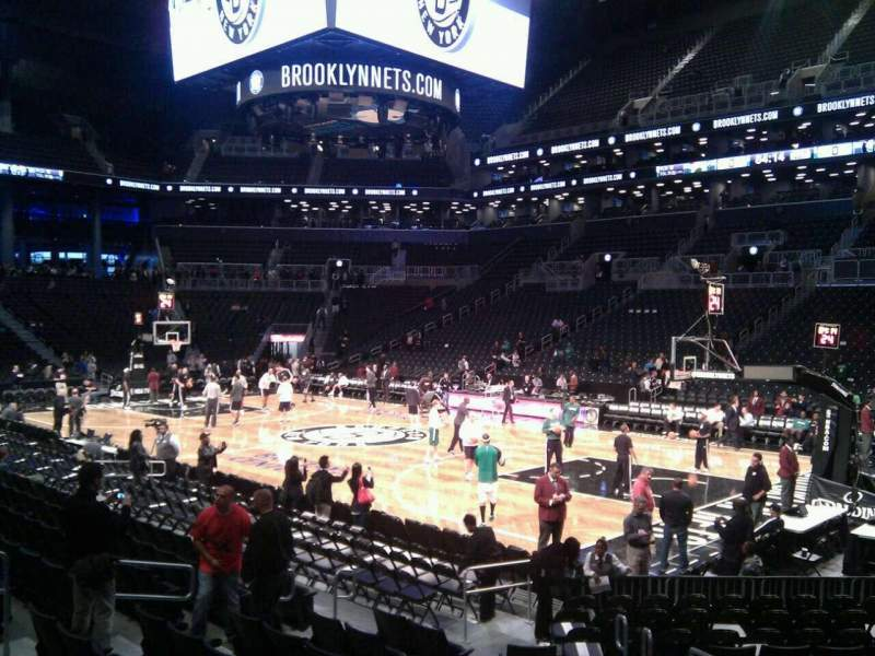 Seating view for Barclays Center Section 22 Row 11 Seat 3