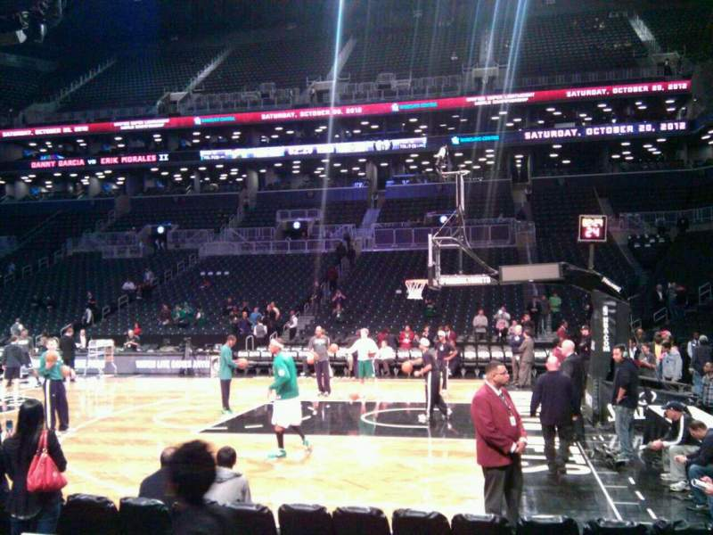 Seating view for Barclays Center Section 23 Row 3 Seat 3
