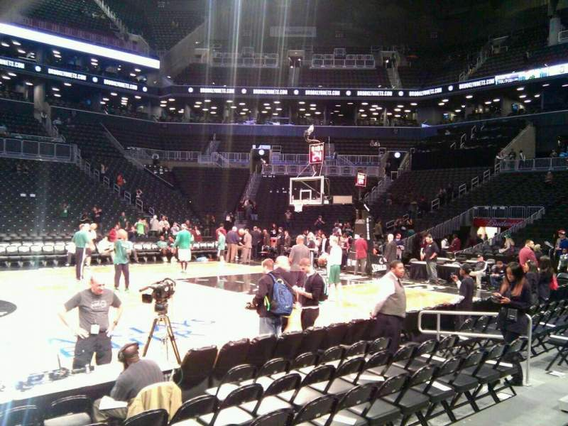 Seating view for Barclays Center Section 24 Row 3 Seat 12