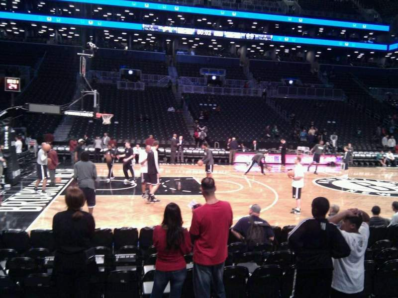 Seating view for Barclays Center Section 25 Row 5 Seat 16