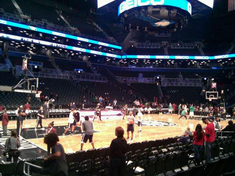 Seating view for Barclays Center Section 26 Row 5 Seat 3