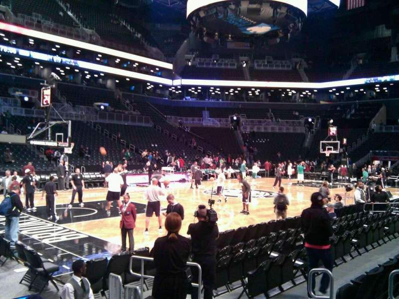 Seating view for Barclays Center Section 28 Row 5 Seat 3