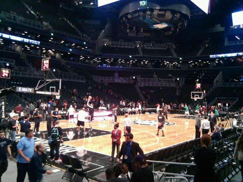 Seating view for Barclays Center Section 29 Row 5 Seat 1