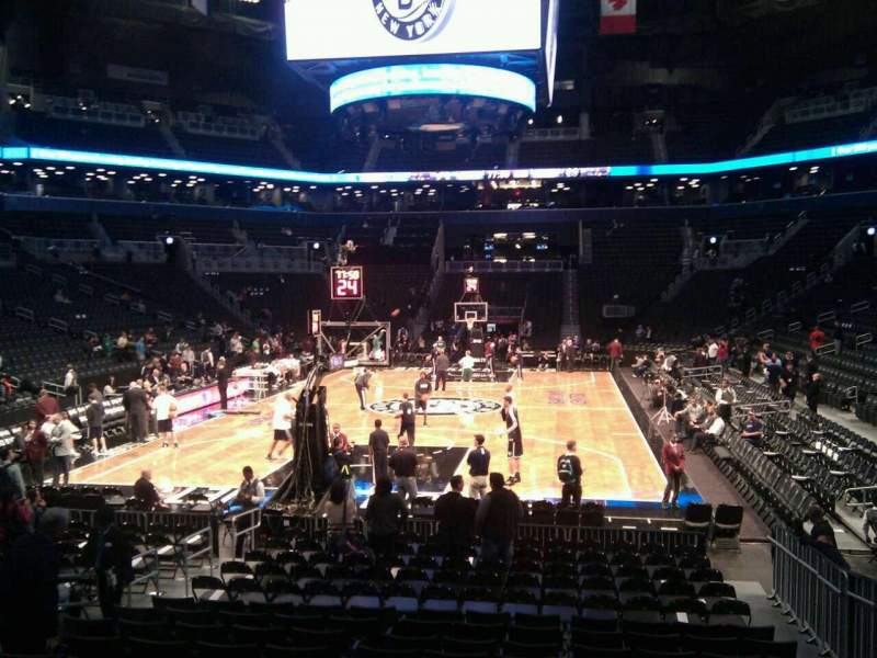Seating view for Barclays Center Section 31 Row 12 Seat 13