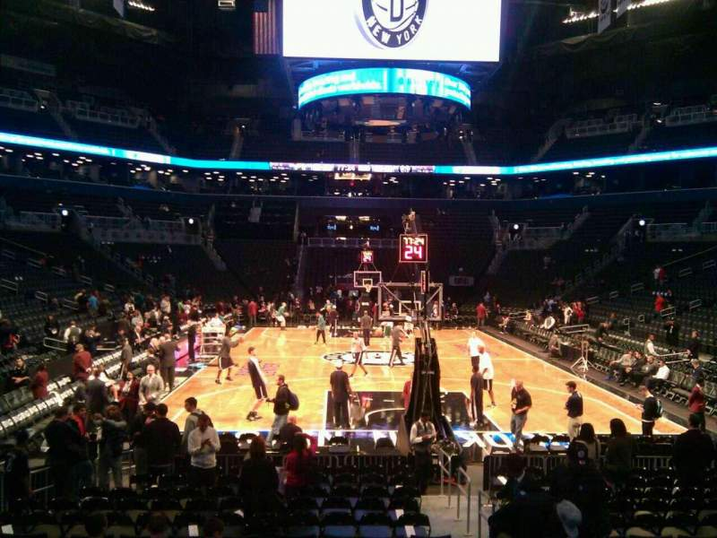 Seating view for Barclays Center Section 1 Row 11 Seat 2
