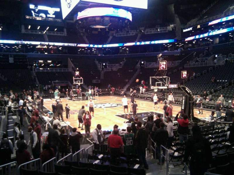Seating view for Barclays Center Section 3 Row 3 Seat 3