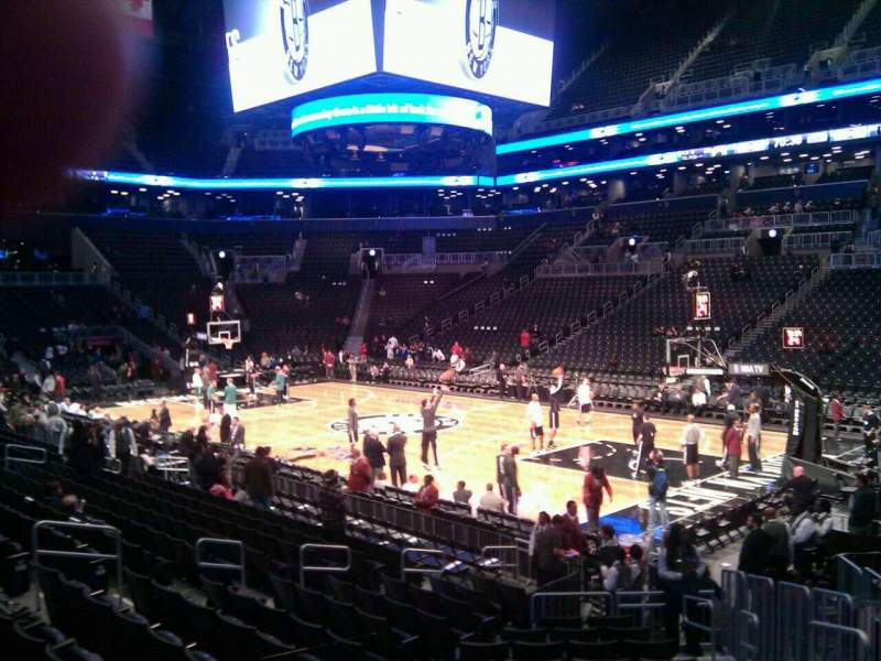 Seating view for Barclays Center Section 4 Row 15 Seat 5