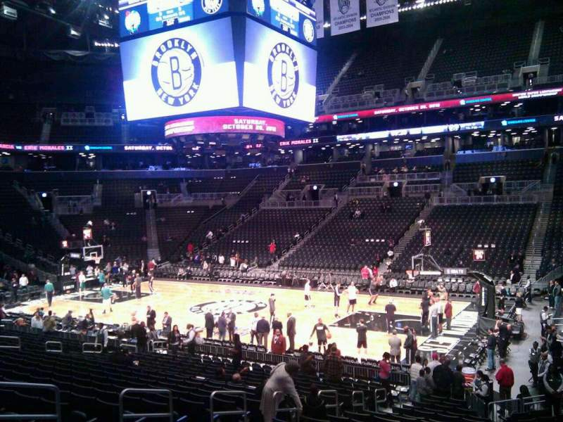 Seating view for Barclays Center Section 6 Row 19 Seat 1