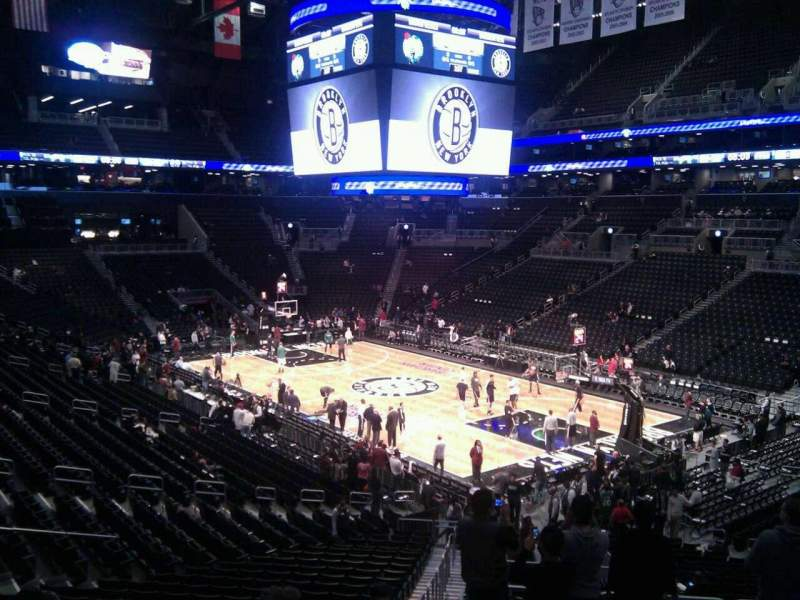 Seating view for Barclays Center Section 104 Row 7 Seat 10