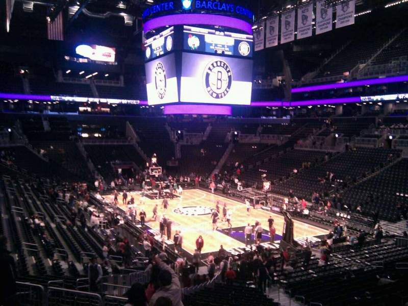 Seating view for Barclays Center Section 103 Row 6 Seat 11