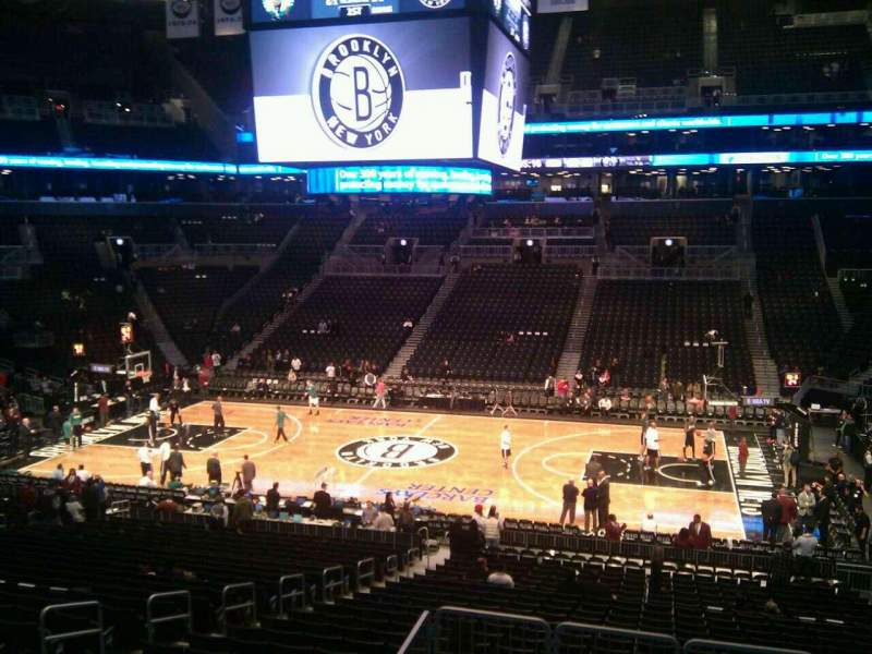 Seating view for Barclays Center Section 107 Row 6 Seat 9