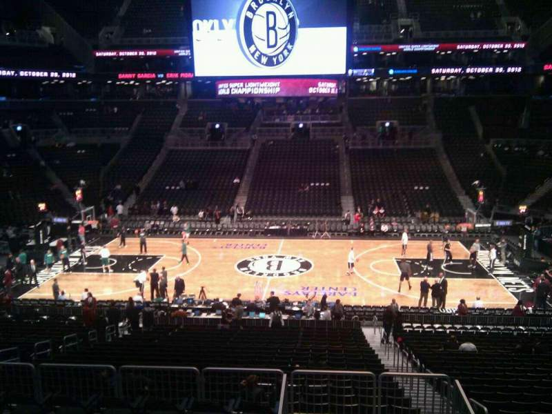 Seating view for Barclays Center Section 108 Row 7 Seat 3
