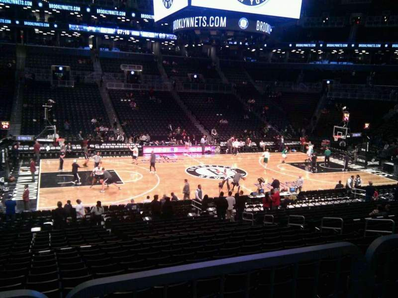 Seating view for Barclays Center Section handicapped below 125