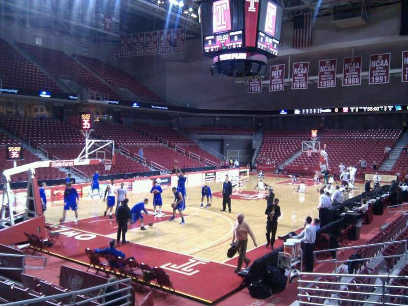 Seating view for Liacouras Center Section 106 Row l Seat 11