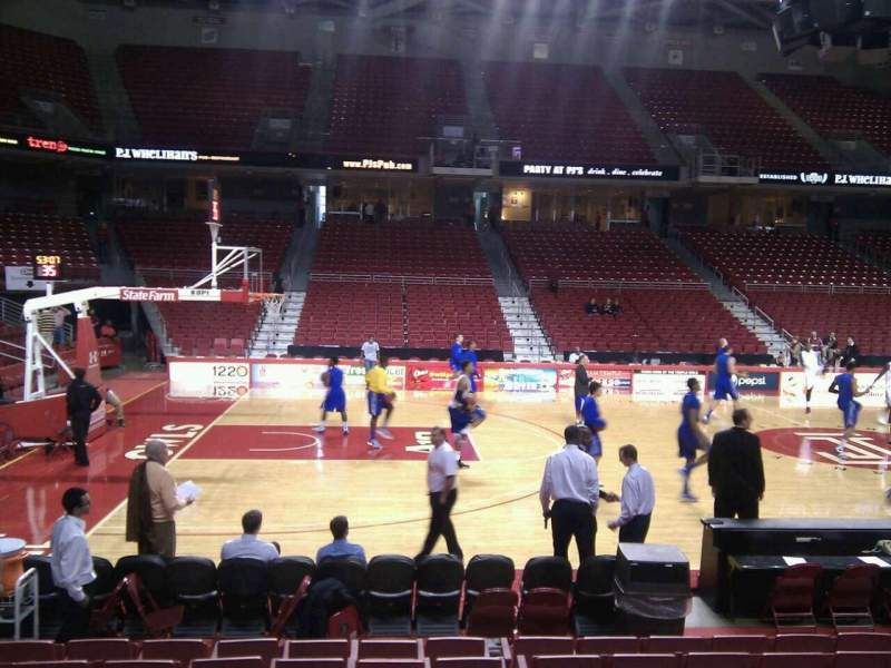 Seating view for Liacouras Center Section 104 Row k Seat 10