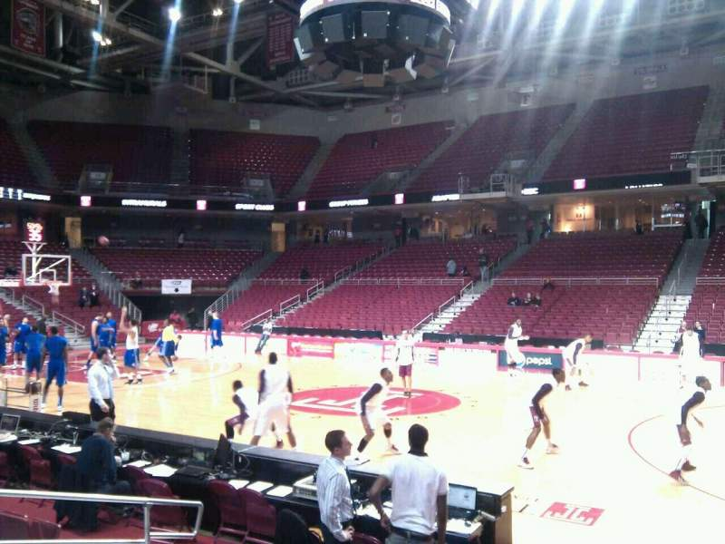 Seating view for Liacouras Center Section 102 Row g Seat 9