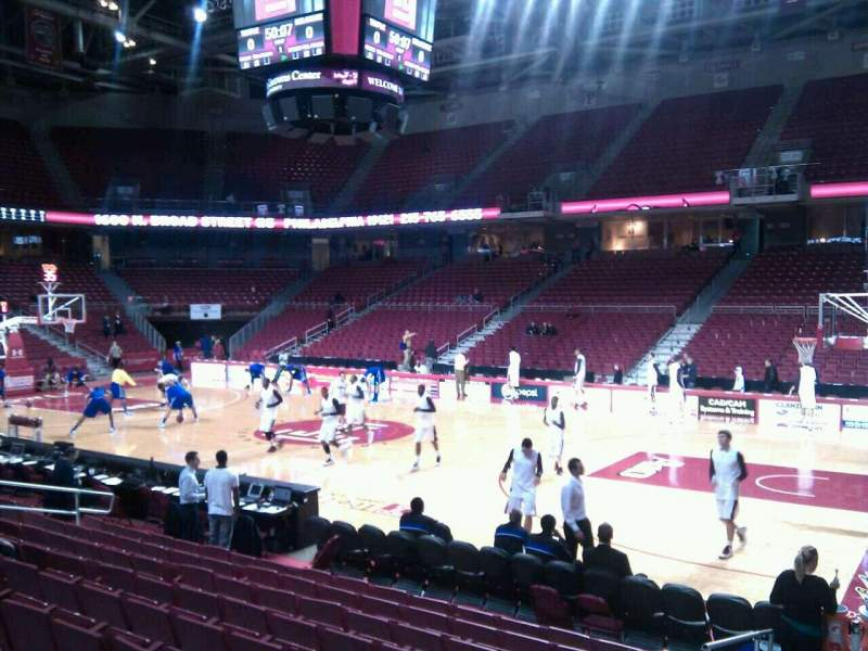 Seating view for Liacouras Center Section 101 Row l Seat 11