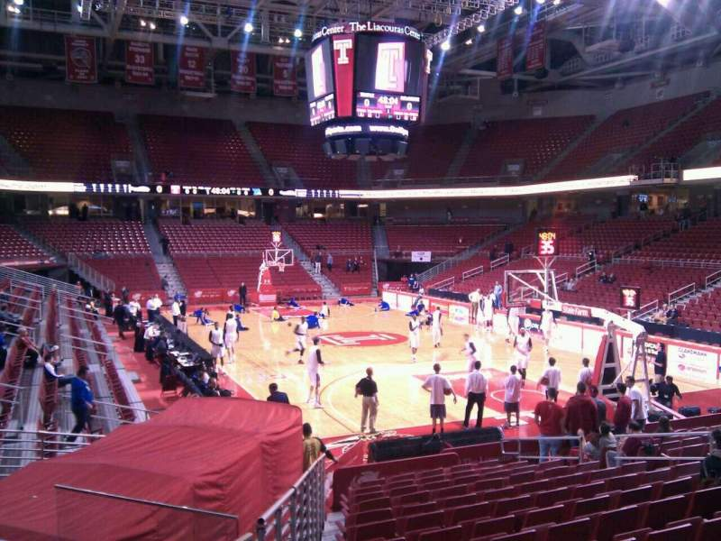 Seating view for Liacouras Center Section 120 Row p Seat 15