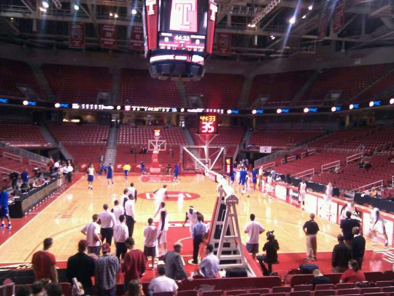 Seating view for Liacouras Center Section 118 Row m Seat 17