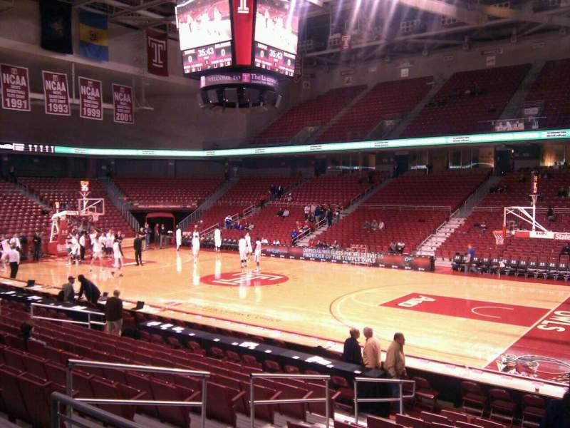 Seating view for Liacouras Center Section 111 Row n Seat 6