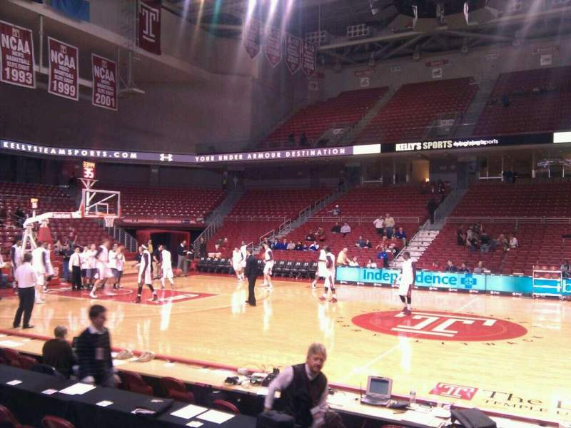 Seating view for Liacouras Center Section 113 Row f Seat 1