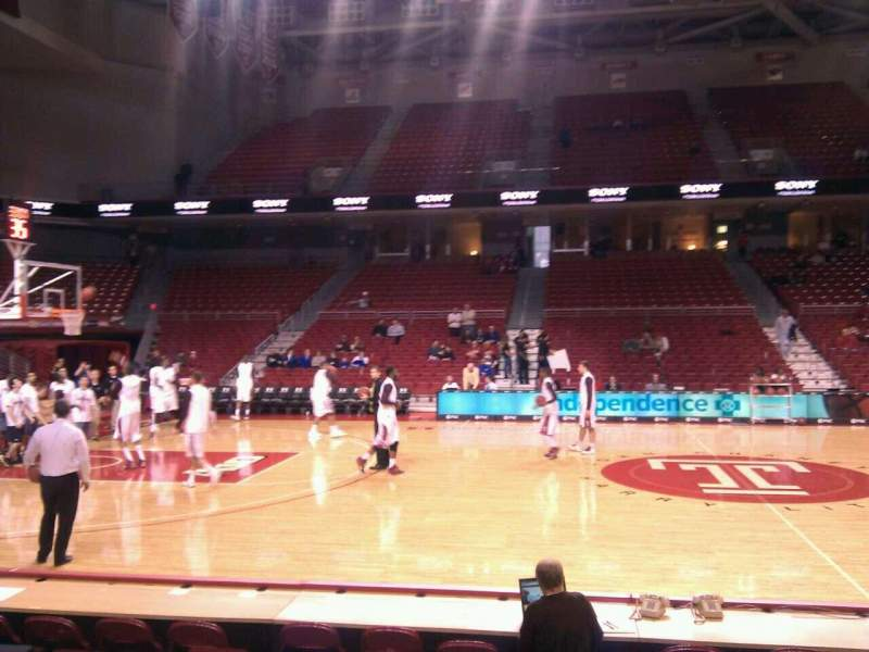 Seating view for Liacouras Center Section 113 Row f Seat 14