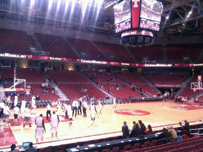 Seating view for Liacouras Center Section 115 Row l Seat 3