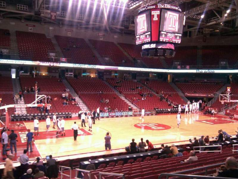 Seating view for Liacouras Center Section 115 Row r Seat 3