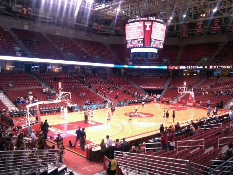 Seating view for Liacouras Center Section 116 Row t Seat 8