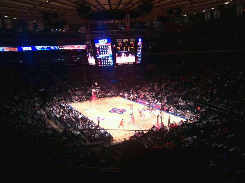 Seating view for Madison Square Garden Section 202 Row 2 Seat 6