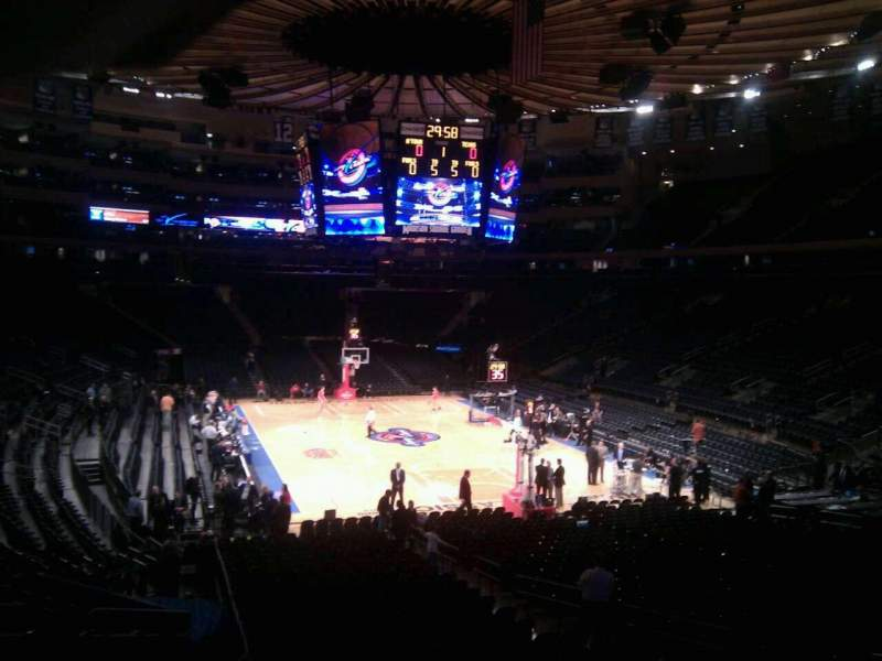 Seating view for Madison Square Garden Section 111 Row 8 Seat 12