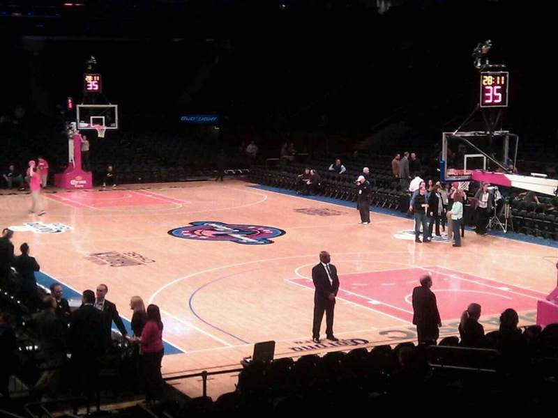 Seating view for Madison Square Garden Section 110 Row 9 Seat 12