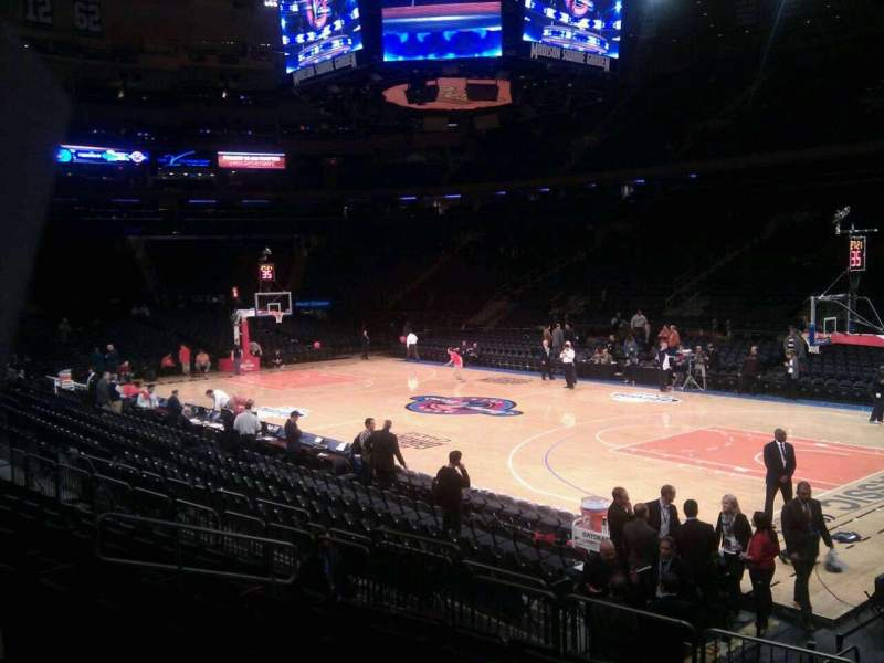 Seating view for Madison Square Garden Section 109 Row 8 Seat 10