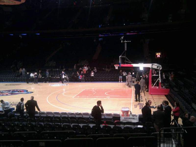 Seating view for Madison Square Garden Section 108 Row 6 Seat 17