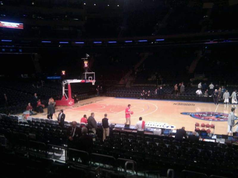 Seating view for Madison Square Garden Section 107 Row 7 Seat 14