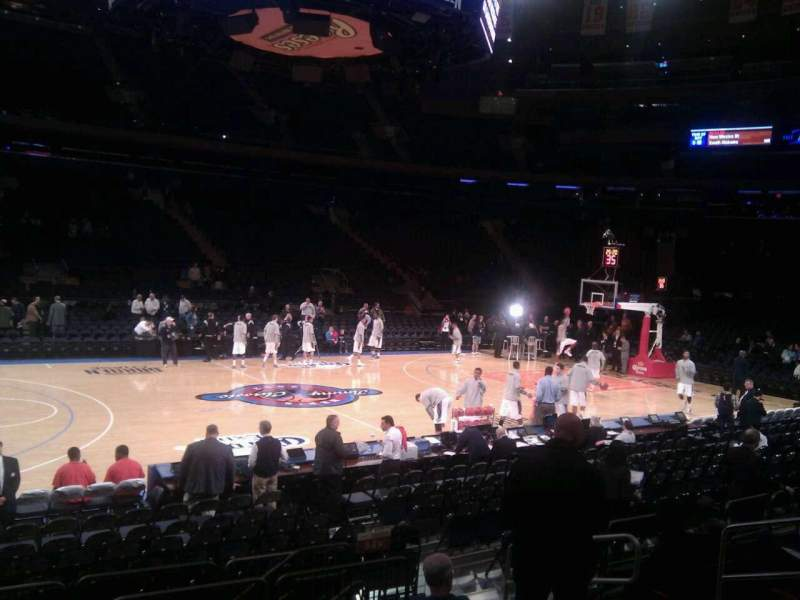 Seating view for Madison Square Garden Section 106 Row 7 Seat 13