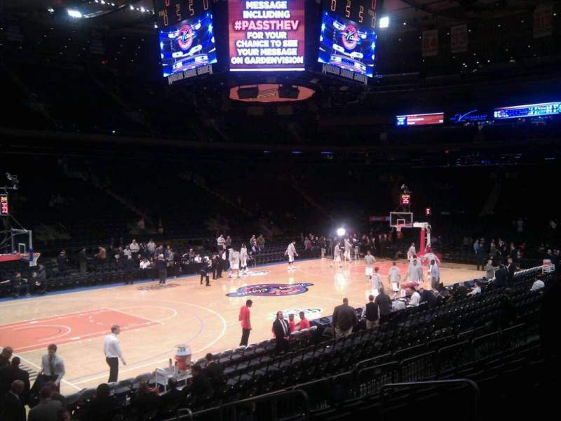 Madison Square Garden: Madison Square Garden, Section 105, Home Of New York